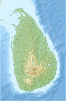 Sri Lanka relief map