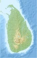 Sri Lanka relief map